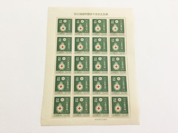 記念切手 シート 1934年 赤十字会議記念 1銭5厘 -0.jpg